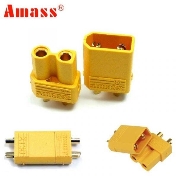 10pcs Amass XT30U Male Female Bullet Connector Plug the Upgrade e1596820516102