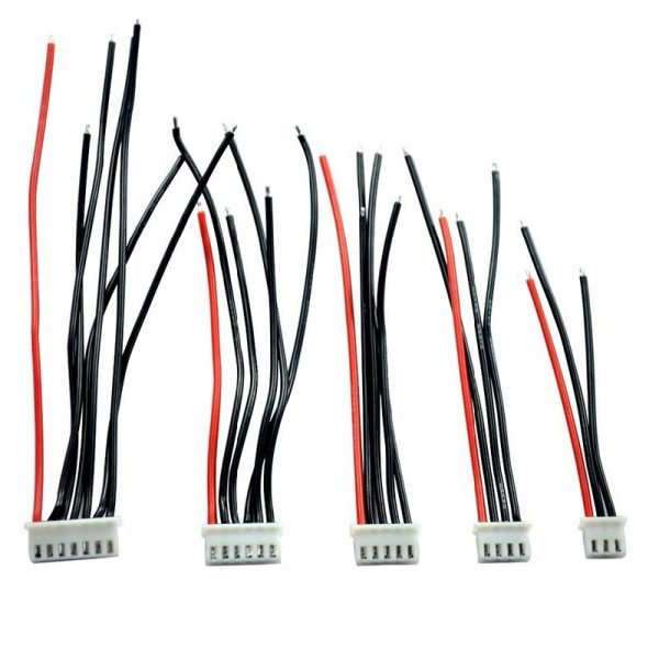 5pcs lot 2S 3S 4S 5S 6S Balancing Changer Wire Charger Silicon Cable JST XH
